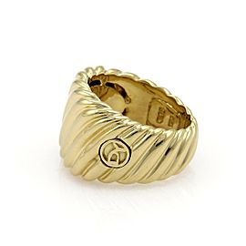 59080 David Yurman 18k Yellow Gold Wide Cigar Band Cable Ring Size - 5.5