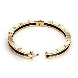Bvlgari Bulgari B Zero-1 Black Ceramic 18k Rose Gold Bangle 7.5""