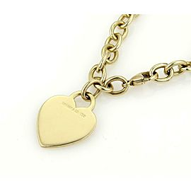 Tiffany & Co. 18k Yellow Gold Heart Charm Chain Bracelet