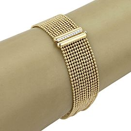 Tiffany & Co. Picasso Diamond 18k Gold Multi-Strand Bead Chain Bracelet