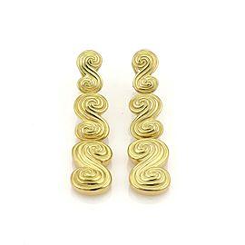 Tiffany & Co. SPIRO 18k Yellow Gold Spiral Drop Dangle Earrings