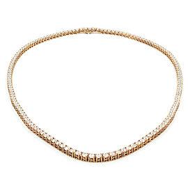 Rachel Koen 14K Rose Gold Round Diamonds 26cttw Necklace