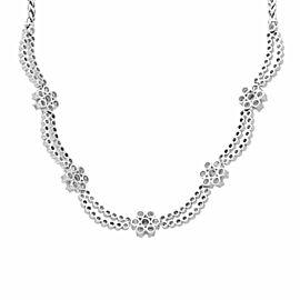 Rachel Koen18K White Gold Diamond Jewelry Set of Earrings and Necklace 6.20cttw