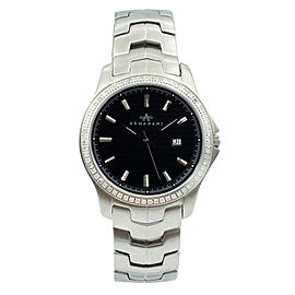 Armadani Stainless Steel Genuine Diamonds Swiss Quartz Mens Watch GS8012