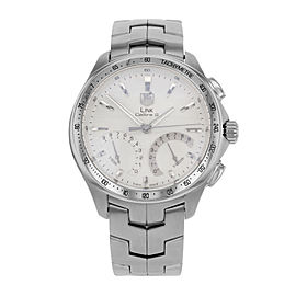 TAG Heuer Link Chronograph Silver Dial Steel Quartz Mens Watch CAT7011.BA0952
