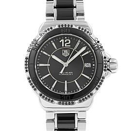 TAG Heuer Formula 1 Black Dial Steel Ceramic Ladies Quartz Watch WAH121A.BA0859