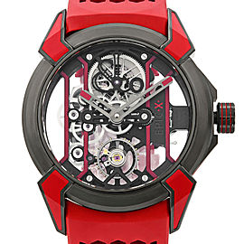 Jacob and Co. Epic X Skeleton Titanium Red Hand-Wind Mens Watch EX100.21.RR.PY.A