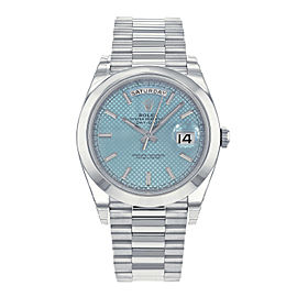 Rolex Day-Date President 228206 IBLSP Ice Blue Dial Platinum Automatic Men's Wat
