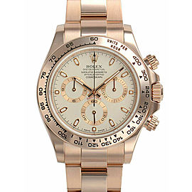 Rolex Cosmograph Daytona 18K Rose Gold Ivory Dial Automatic Mens Watch 116505