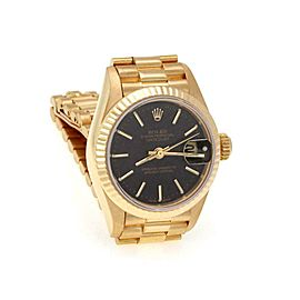 Rolex Oyster 18k Yellow Gold Date Just Automatic Ladies Watch 79178