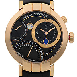 Harry Winston Premier Excenter Perpetual Calendar 41mm Watch PRNAPC41