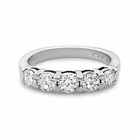 Rachel Koen 950 Platinum 1.00cttw 5 G VS2 Round Diamonds Wedding Ring Sz6