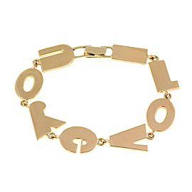 "Mayor's 14k Yellow Gold 'I LOVE YOU' Letter Link Bracelet 7.75"" Long"