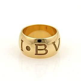 Bvlgari Bulgari MONOLOGO 18k YGold 10mm Dome Band Ring Size EU 48-US 4.25