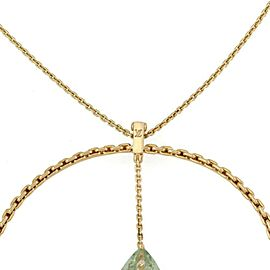 Louis Vuitton Green Amethyst 18k Yellow Gold Bangle Pendant & Chain