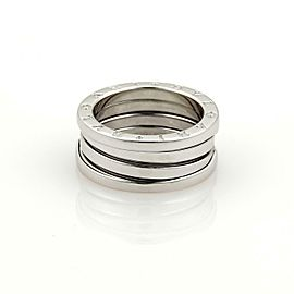 Bvlgar Bulgari B Zero.1 Spiral 18k White Gold 8mm Wide Band Ring Size 52