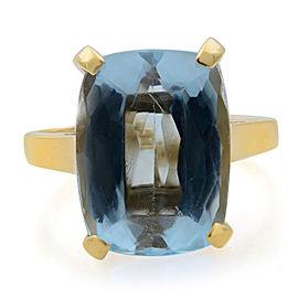 Rachel Koen 14K Yellow Gold Solitaire Topaz Ladies Engagement Ring 7.00cttw