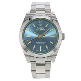 Rolex Milgauss 116400GV blo Green Sapphire Steel Automatic Men's Watch