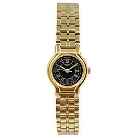 Seiko Stainless Steel Gold Tone Black Dial Japan Quartz Ladies Watch SXF332