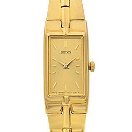 Seiko Gold Tone Stainless Steel Champagne Dial Quartz Ladies Watch SZZC44