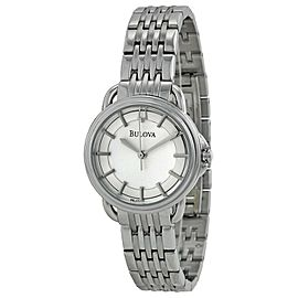 Bulova Dress Silver Sticks Dial Stainless Steel Quartz Ladies Watch 96L171