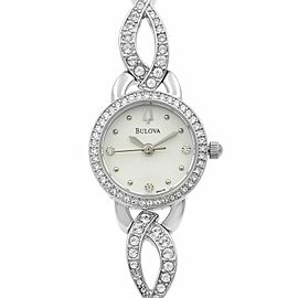 Bulova Stainless Steel MOP Dial Ladies Quartz Watch 96X119
