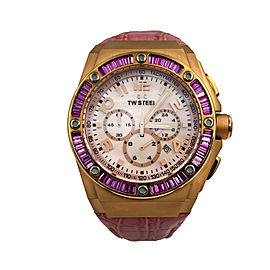 TW Steel Kelly Rowland Edition Quartz Pink MOP Arabic Dial Mens Watch CE4006