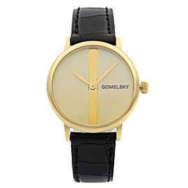 Gomelsky Agnes Varis Steel Gold Dial Quartz Ladies Watch G0120023286