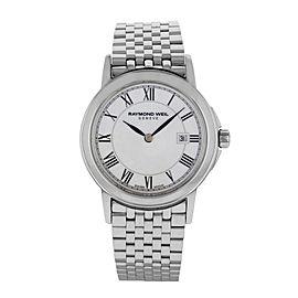 Raymond Weil Tradition White MOP Dial Steel Quartz Ladies Watch 5966-ST-00970
