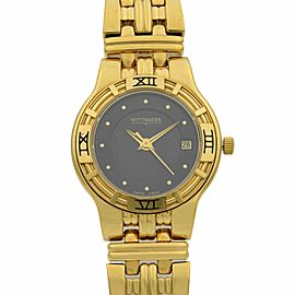 Wittnauer Gold Tone Steel Casual Womens Swiss Quartz Watch 11M04