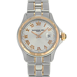 Raymond Weil Parsifal Silver Dial Steel 18K Gold Ladies Watch 9460-SG5-00658