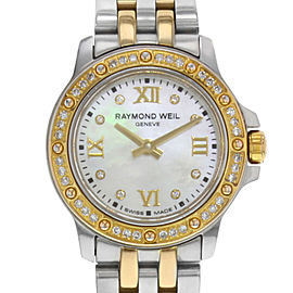 Raymond Weil Tango Two Tone Steel MOP Dial Quartz Ladies Watch 5799-SPS-00995