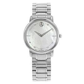 Movado TC Diamond Mother of Pearl Dial Steel Quartz Ladies Watch 0606691
