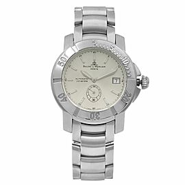 Baume et Mercier Capeland Steel Silver Dial Automatic Mens Watch MOA08125