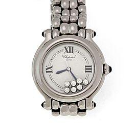 Chopard Happy Sport 7 Floating Diamonds & Sapphire SSteel Date Wrist Watch