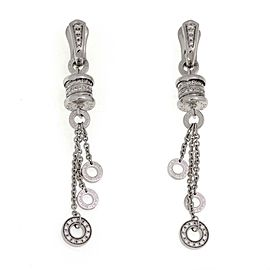 Bvlgari B Zero.1 One Carat Diamonds 18k White Gold Dangle Tassel Earrings