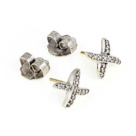 David Yurman Diamonds Sterling Silver X Stud Earrings