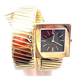 Bulgari Bvlgari 18k Tri-Color Gold Tubogas Serpent Snake Bracelet Watch