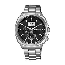 Citizen Eco-drive Perpetual Calendar Steel Black Dial Mens Watch BT0080-59E