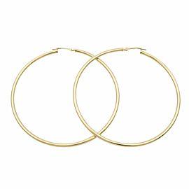 Rachel Koen 14K Yellow Gold Large Hoop Earrings 2.2inch