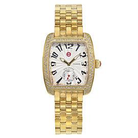 Michele Urban Mini Gold Tone Steel Diamonds Quartz Ladies Watch MWW02A000064