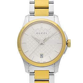 Gucci G-Timeless Two-Tone Steel Silver Dial Quartz Ladies Watch YA126531