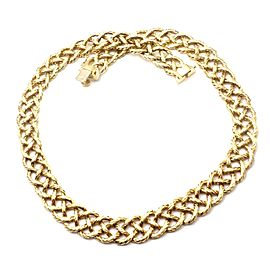 Authentic! Buccellati Crepe De Chine 18k Yellow Gold Braided Link Necklace