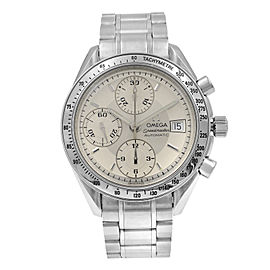 Omega Speedmaster Chrono Silver Sticks Dial Steel Automatic Men Watch 3513.30.00