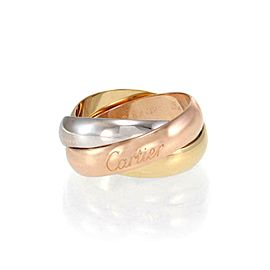 Cartier Trinity 18k Tricolor Gold 5mm Rolling Band Ring Size 58-US 8.75