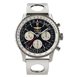 Breitling Navitimer 01 Steel Black Dial Automatic Mens Watch AB012012/BB01-222A