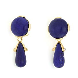 Valentin Magro Lapis 18k Yellow Gold Double Style Dangle Clip On Earrings