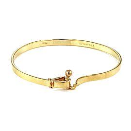 Tiffany & Co.18k Yellow Gold 4mm Wide Loop Hook Bangle