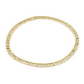 Tiffany & Co. ATLAS 18k Yellow Gold Roman Numeral Collar Necklace