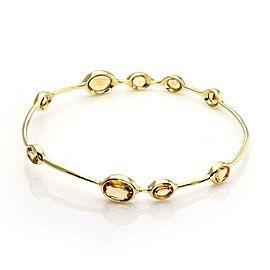 Ippolita Rock Candy Citrine Gems 18k Yellow Gold Bangle